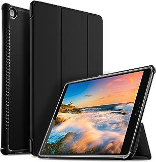 Huawei MediaPad M5 10.8 Zoll Hülle, IVSO Ultra Schlank Ständer Slim zubehör Schutzhülle perfekt geeignet für Huawei MediaPad M5 10.8 Pro /M5 10.8 2018 Modell Tablet PC (SZ Schwarz)