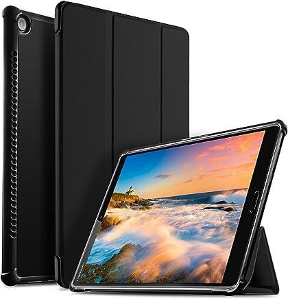 IVSO Huawei MediaPad M5 10.8 Cover Custodia, Slim Smart Cover Custodia Protettiva in pelle PU per Huawei MediaPad M5 10.8 Pro / M5 10.8 2018 Tablet, Nero