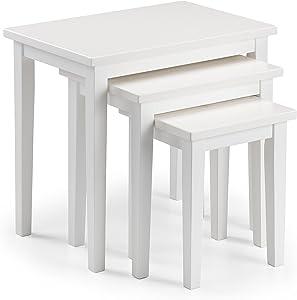 Julian Bowen Cleo Tables gigognes, Bois, Blanc, 33x 48x 46cm