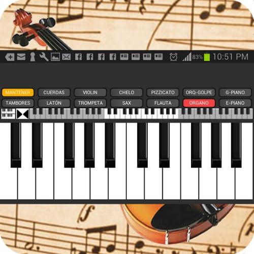 Cuerdas y Piano Teclado