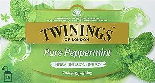 Twinings Pure Peppermint Tee, Erfrischender Pfefferminztee  Intensiver und charakteristischer Geschmack  25 Teebeutel x 2g, 50g, Tea 12er Pack 12 x 50 g