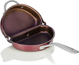 TECHEF Specialty Cookware Frittata Omelette Pan (PFOA Free), Oven & Dishwasher Safe, Made in Korea, Standard, Purple