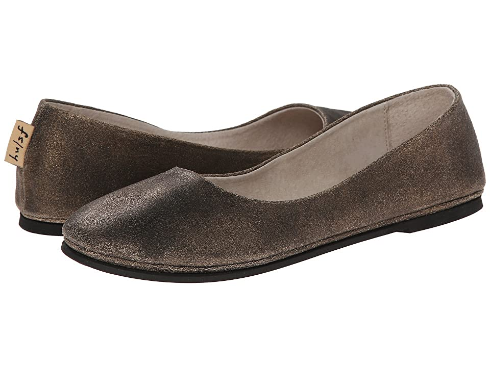 French Sole Sloop Flat (Bronze Metallic Suede) Women