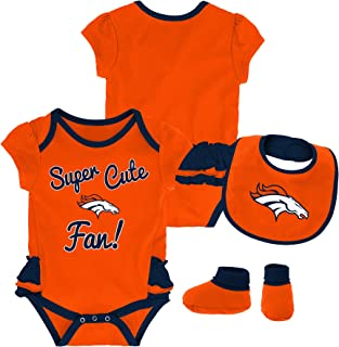 Outerstuff NFL Baby-Girls Newborn & Infant Mini Trifecta Bodysuit, Bib, Bootie Set