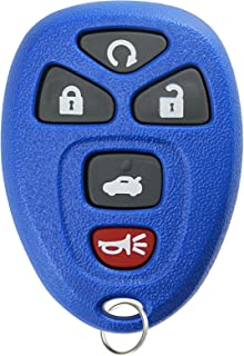 KeylessOption Keyless Entry Remote Start Control Car Key Fob Replacement for 22733524-Blue