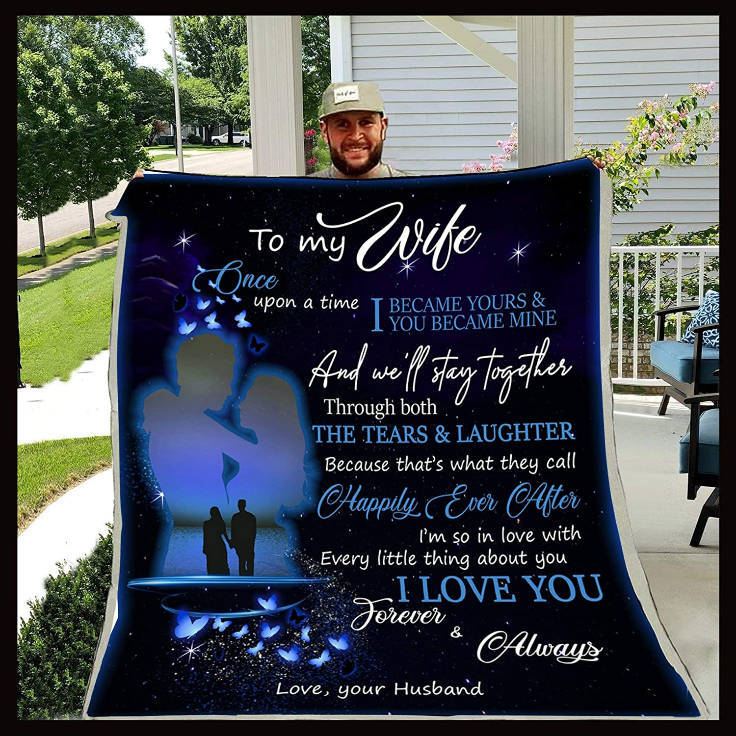 FAMILY BLANKET – HUSBAND TO WIFE Gift A UPON 毎日激安特売で 保障 営業中です TIME ONCE Blanket