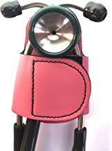 The BATCLIP (PINK) – Premium leather handmade clip-on stethoscope hip holder; no more neck carrying, loss, or misplacement. Proudly carry your high-end stethoscope with taste and style.