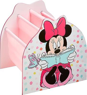 Minnie Mouse Bibliothèque à Pochettes Rangement de Livres pour Chambre d'Enfant, Dimensions apprximatives Une Fois montée (H) x 39,5cm (l) x 35cm (P) o