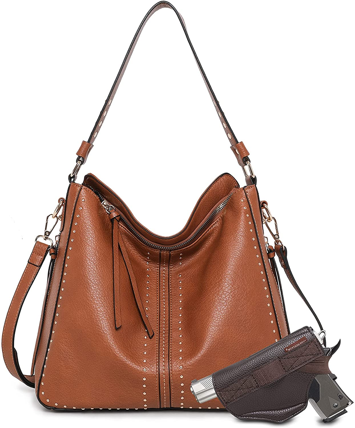 Genuine Tote Max 86% OFF Bag for Women Large Concealed and Carry Handbags Fau Purses