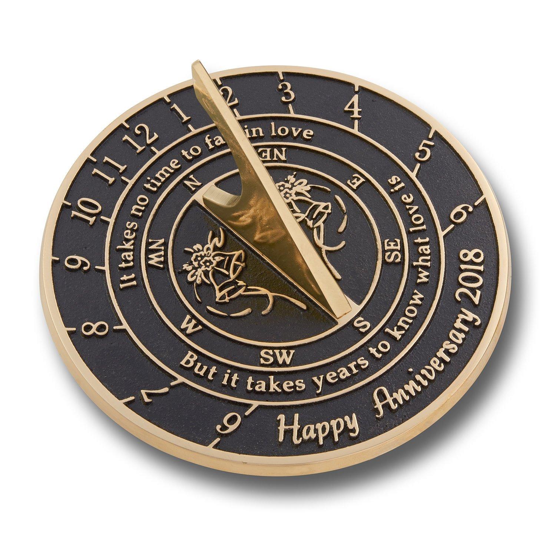 The Metal Foundry u0027Love isu0027 Wedding Anniversary 2018 Gift. This Unique Sundial Gift  sc 1 st  Amazon.com & Bronze Anniversary Gifts: Amazon.com