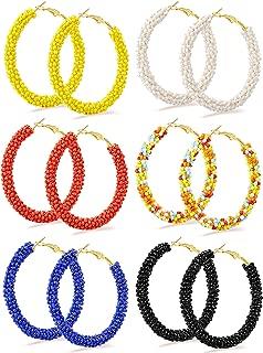 Best large beaded hoop earrings Reviews