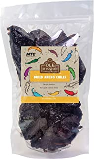 Dried Ancho Chiles Peppers 4.25 oz, Great For Sauce, Chili, Stews, Soups, Mole, Tamales,..