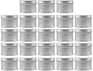 Metal Ethnic Style Tins for Scented Candles Making Supplies Scented Tins Portable Travel Sealing Storage Container Exceart 24Pcs Empty Candle Jars