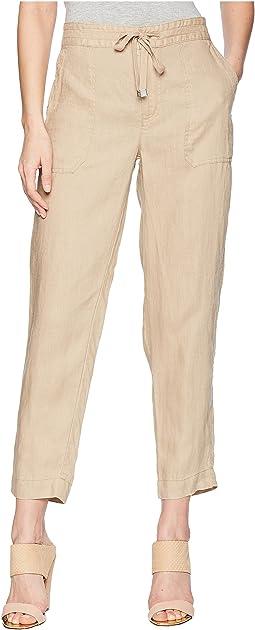 Straight Linen Pants