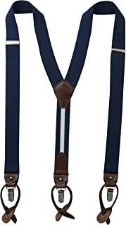 Tommy Hilfiger Men's Clips Suspenders - For Dress Tuxedo Pants with Y Back and Adjustable Straps