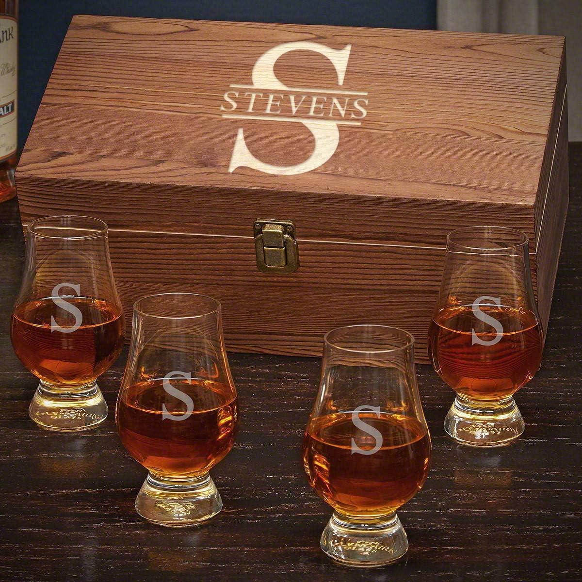 Max 89% OFF Oakmont Personalized Glencairn Whiskey Custom Set Ranking TOP4 Product Gift