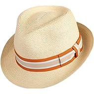 01d4211922d414 Janetshats Straw Fedora Unisex Summer Sun Hats Panama Short Brim Hat Men  Women