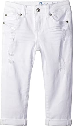 Josefina Boyfriend Jeans in Destructed White (Big Kids)