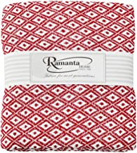 Ramanta Home Cotton Throw Blanket 50x60 for Sofa, Chair, Bed, Couch & Everyday Use - Well-Crafted for Durability & Style - Red
