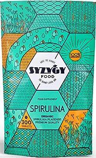 SYZYGY FOOD | Espirulina Ecológica Certificada | 300 comprimidos de 500mg | Máxima pureza 99% BIO Spirulina | DETOX - Vega...