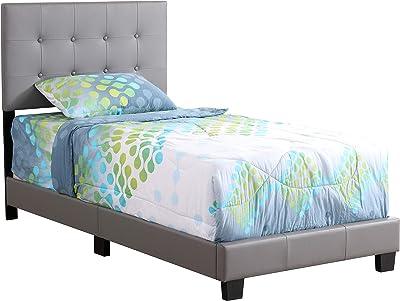 Amazon Com Zinus Jade Faux Leather Upholstered Platform