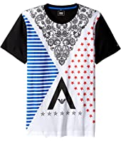 Armani Junior - Funtastic Logo Printed Tee with Mesh Tee (Toddler/Little Kids/Big Kids)