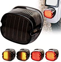 MOVOTOR Harley Tail Light Integrated Turn Signal Brake Running Light Low Profile Smoked Rear Light for Harley Sportster 883 1200 Dyna Road King Electra Glide
