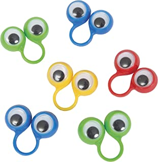 Unique Party 84742 - Googly Eyes Finger Puppet Party Bag Fillers, Pack of 8