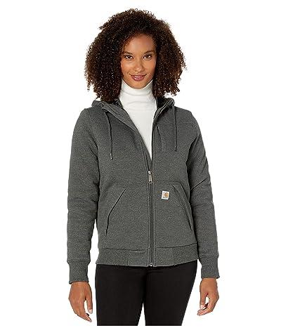 Carhartt Rain Defender(r) Rockland Quilt-Lined Full Zip Hooded Sweatshirt (Carbon Heather) Women