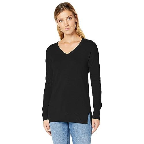 Amazon Essentials Women s Lightweight V-Neck Tunic Sweater 09eb4b5bb