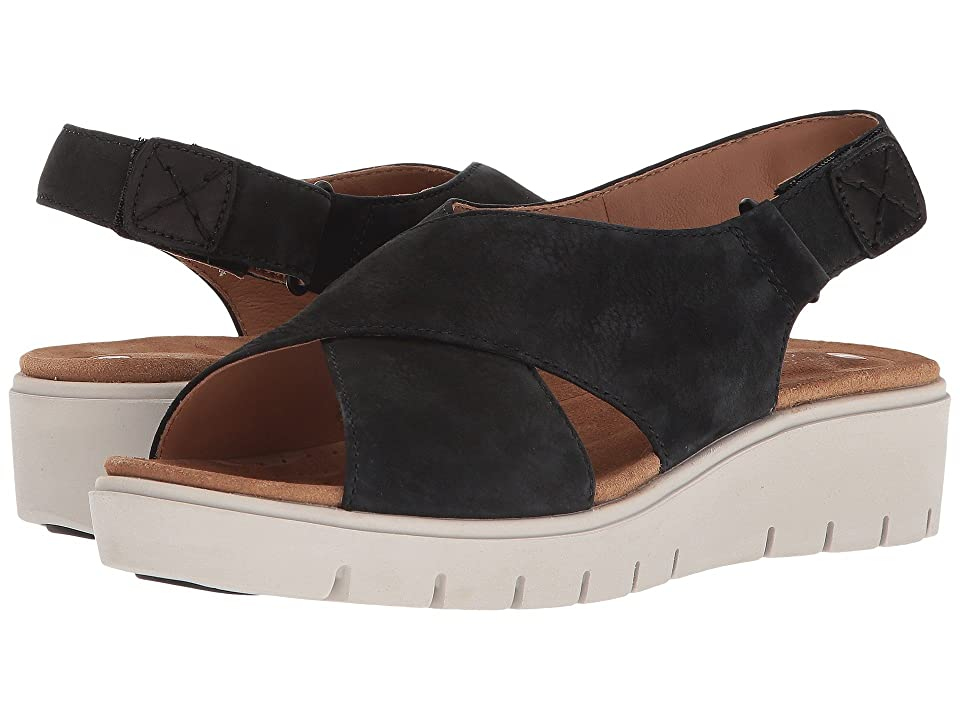 Clarks Un Karely Hail (Black Nubuck) Women