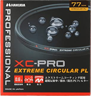 HAKUBA PLフィルター 77mm サーキュラーPL 反射率 0.6% 色ムラなし コントラスト強調 反射除去 撥水防汚 薄枠 日本製 XC-PRO CF-XCPRCPL77