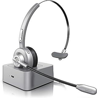 CSL   Bluetooth Headset mit Ladestation   Mono PC Headset mit Mikrofon   USB Ladeport   Multipoint   Rauschunterdrückung   leicht   freisprechen   Chat Callcenter Meetings   PC Tablet Smartphone