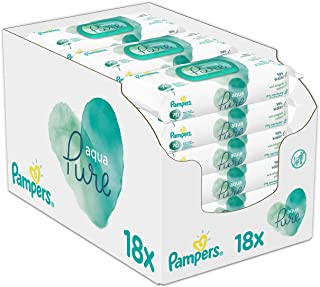 Pampers Baby Wipes, 1260 Count (18 x 70), Newborn Skin Care, Made With Organic Cotton For A Soft Touch
