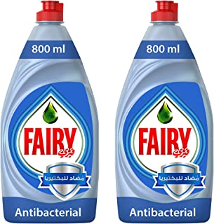 Fairy Platinum Antibacterial Dishwashing Liquid Soap, 2 x 800 ml