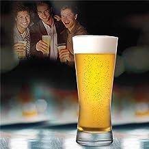 Ocean Metropolitan Beer Glasses, Pack of 6, Clear, 400 ml, B21314, Glass