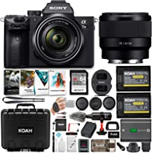 Sony a7 III Full Frame Mirrorless Camera with 28-70mm, FE 50mm f/1.8 Lens, 64GB Card, and Accessory Bundle (9 Items)