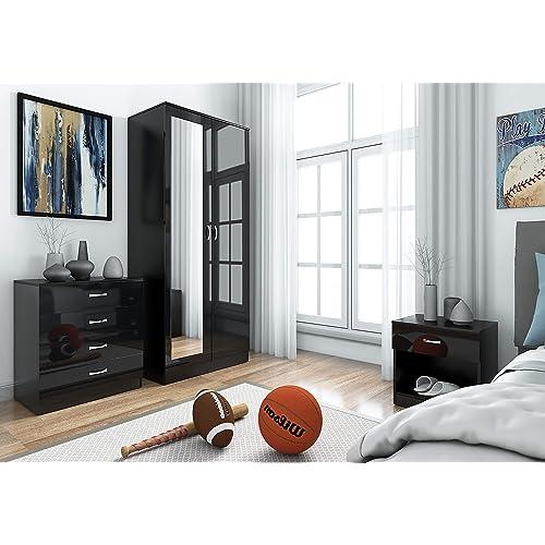 Enjoyable Black Bedroom Furniture Amazon Co Uk Home Interior And Landscaping Ponolsignezvosmurscom