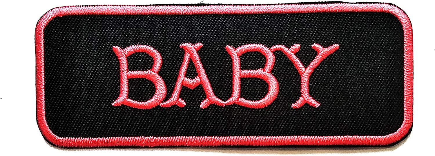 Nipitshop Patches Pink Baby Funny Biker Overseas parallel import regular item Kansas City Mall Patch Motorc Words