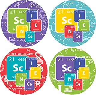 Science Party Favor Labels - 1.75 in - 100 Stickers