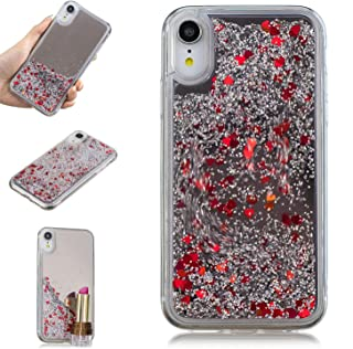 iPhone XR Case, KMISS Mirror Luxury Glitter Liquid Floating Bling Sparkle with Fashion Creative Design Mirror Bumper Protective Cover for Apple iPhone XR 6.1
