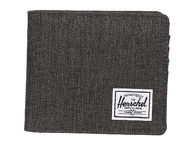 Herschel Supply Co. Roy Coin XL RFID (Black Crosshatch) Wallet Handbags
