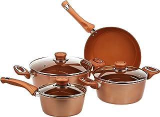Wilson 7 Pieces Forged Cookware Set, CKB4-GR-07, Golden, Aluminium
