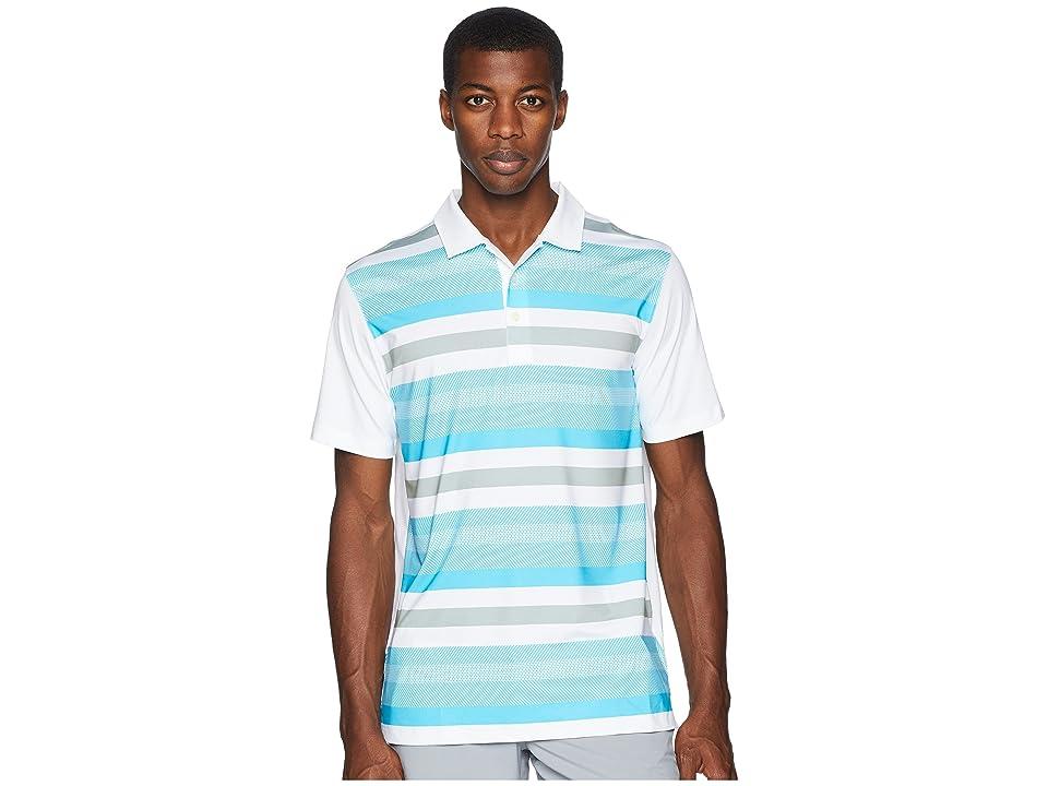 PUMA Golf Turf Stripe Polo (Bright White/Blue Atoll) Men