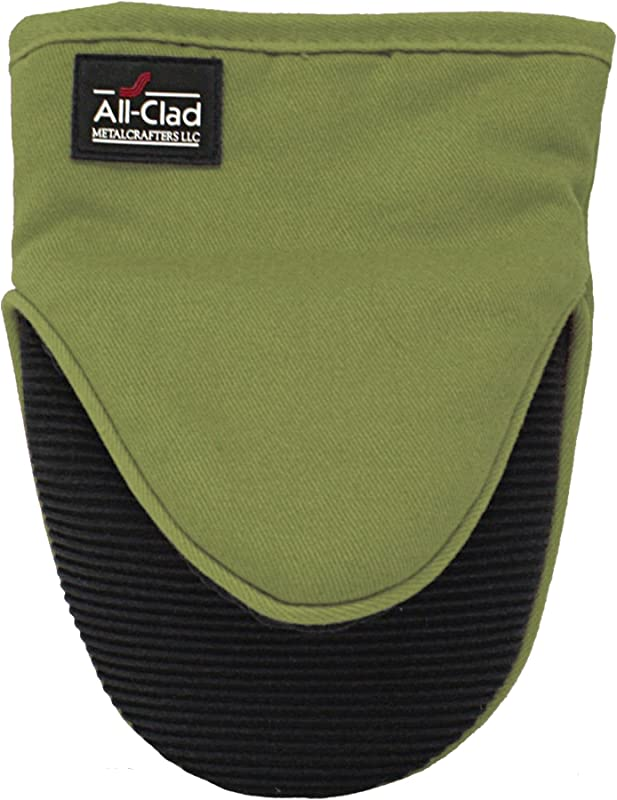 All Clad Textiles Professional Silicone Grabber Mitt Sage Green