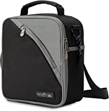 Apollo Walker Lunch Box Insulated Lunch Bag Waterproof Cooler Picnic Tote Bag for Men, Women, Students, Black
