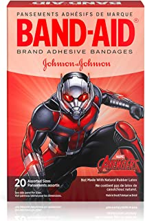 Band-Aid Brand Adhesive Bandages for Minor Cuts, Marvel Avengers Characters, Assorted Sizes, 20 ct
