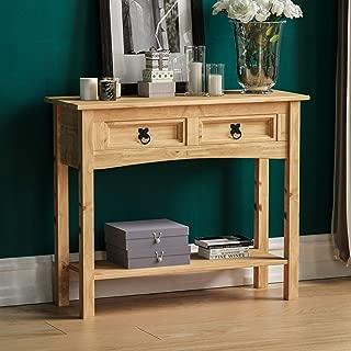 salotto rettangolare Relaxdays Tavolino RUSTICO da divano bamb/ù HxLxP 50x80x34 cm ca. marrone 2 ripiani soggiorno