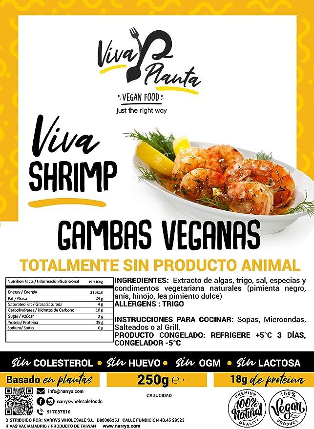 Gambas Veganas, 250g Viva Planta   Vegan   Sin carne   100% Vegetal   Plant Based   Sin Gluten (Pack de 3)
