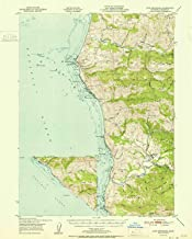 YellowMaps Cape Mendocino CA topo map, 1:62500 Scale, 15 X 15 Minute, Historical, 1951, 20.7 x 16.6 in